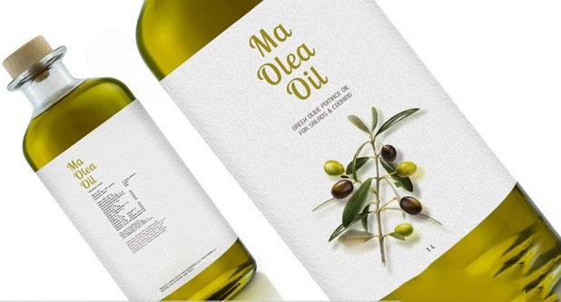 各种瓶型的橄榄油包装设计方案参考