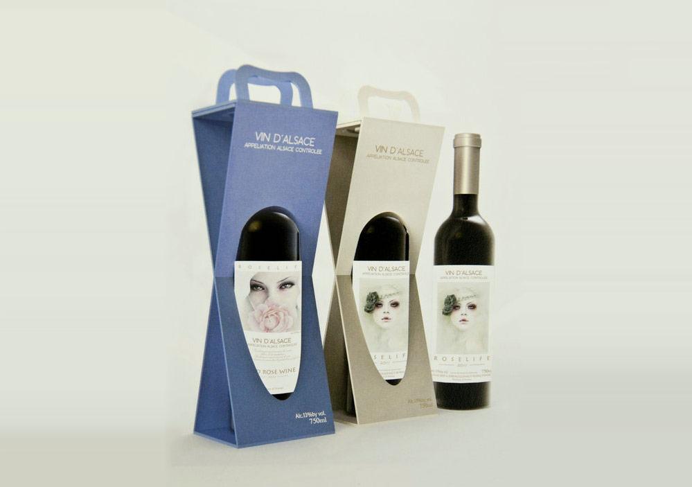 多款创意红酒葡萄酒纸盒包装案例参考图片
