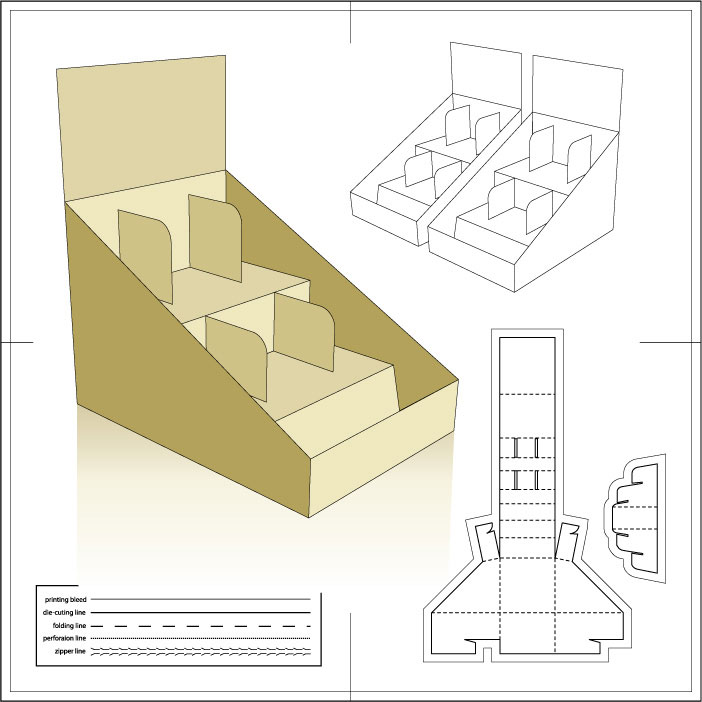 各类卡盒机器盒纸盒包装线性结构